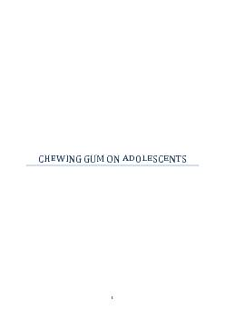 The Impact of Chewing Gum on Adolescents