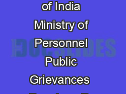 F NoJCA Government of India Ministry of Personnel Public Grievances  Pensions De