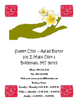 Sweet Chili – Asian Bistro