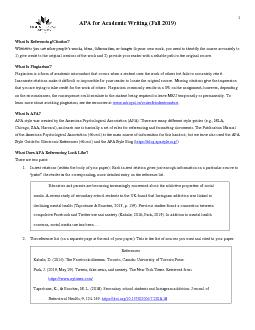 APA Documentation in Research Papers
