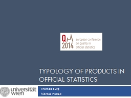 Typology of products in Official Statistics