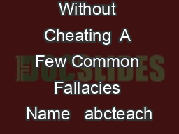 How To Argue Without Cheating  A Few Common Fallacies Name   abcteach