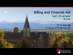 Billing and Financial Aid