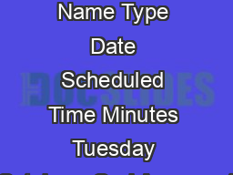 Case  Case Name Type Date Scheduled Time Minutes Tuesday October   Oral Argument PDF document - DocSlides