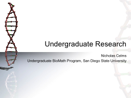 Undergraduate Research PowerPoint PPT Presentation