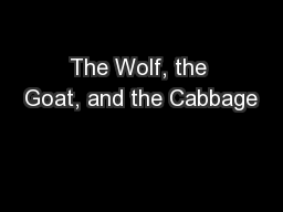 The Wolf, the Goat, and the Cabbage
