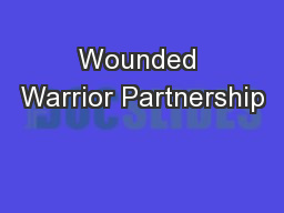 Wounded Warrior Partnership