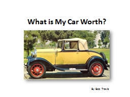 What is My Car Worth?