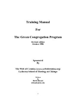 GREEN CONGREGATION PART ONE: GETTING STARThe Green Congregation Progra