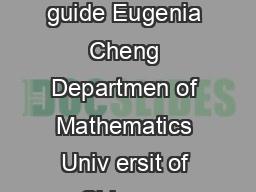 Ho to write pro ofs quic guide Eugenia Cheng Departmen of Mathematics Univ ersit of Chicago Email eugeniamath