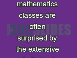 CHAPTER  Proofs Involving Sets tudents in their rst advanced mathematics classes are often surprised by the extensive role that sets play and by the fact that most of the proofs they encounter are pr
