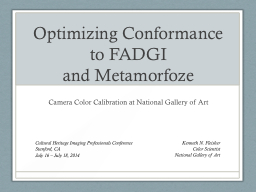 Optimizing Conformance to