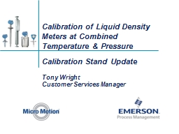 Calibration of Liquid Density