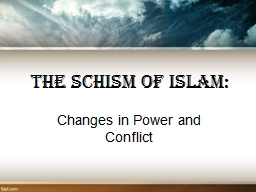 The Schism of Islam: