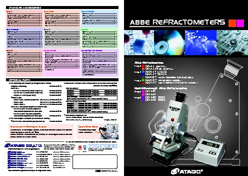 ABBE REFRACTOMETERSPage 7