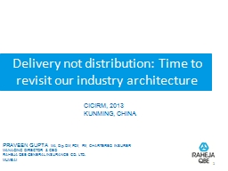 Delivery not distribution: Time to revisit our industry arc PowerPoint PPT Presentation