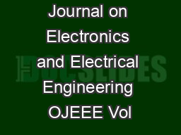The Online Journal on Electronics and Electrical Engineering OJEEE Vol PDF document - DocSlides