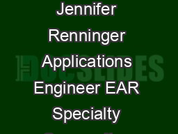 Understanding Damping Techniques for Noise and Vibration Control By Jennifer Renninger Applications Engineer EAR Specialty Composites Indianapolis Indiana  Introduction Effective control of noise and