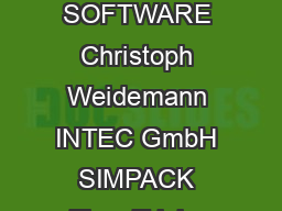 Fig  One and twomass oscillators SIMPACK News Publication June  SOFTWARE Christoph Weidemann INTEC GmbH SIMPACK Tips  Tricks Understanding Damping The meaning and importance of damp ing is not so ob PDF document - DocSlides