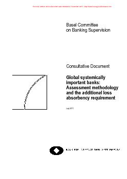 Basel Committee on Banking Supervision   Consultative Document