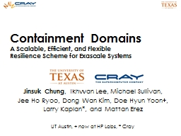 Containment Domains