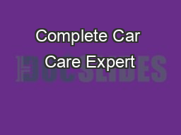 Complete Car Care Expert