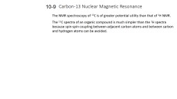 Carbon-13 Nuclear Magnetic Resonance