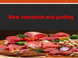 Meat standards and grading