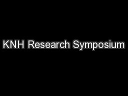 KNH Research Symposium