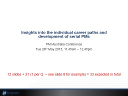 Insights into the individual career paths and development o