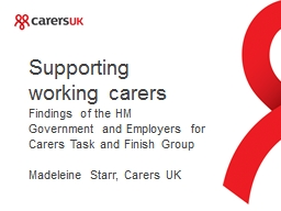 Supporting working carers PowerPoint PPT Presentation