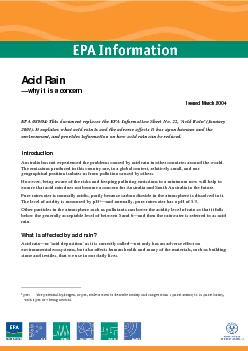 Acid rain: why it is a concern—March 2004