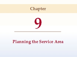 9 Planning the Service Area