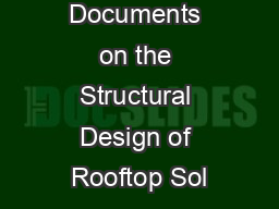 New SEAOC Documents on the Structural Design of Rooftop Sol
