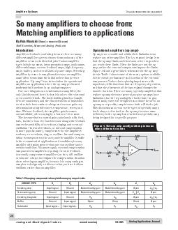 Analog Applications Journal Analog and MixedSignal Products www
