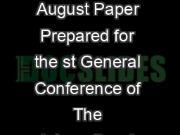 Session Number Parallel Session A Time Tuesday August Paper Prepared for the st General Conference of The International Association for Research in Income and Wealth St PDF document - DocSlides