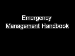 Emergency Management Handbook