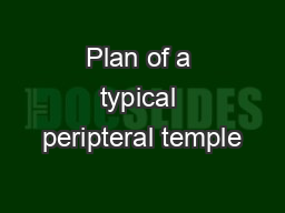 Plan of a typical peripteral temple