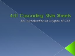 4.01 Cascading PowerPoint PPT Presentation