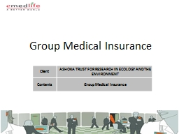 Group Medical Insurance PowerPoint PPT Presentation