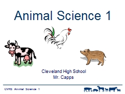 Animal Science 1 PowerPoint PPT Presentation
