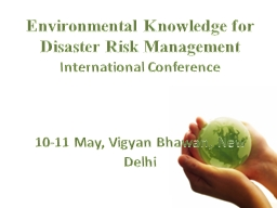 Environmental Knowledge for Disaster Risk Management