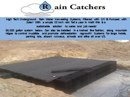 High Tech Underground Rain Water Harvesting Systems, Filter