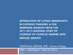 Integration of Latino immigrants in Catholic