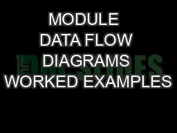 MODULE  DATA FLOW DIAGRAMS WORKED EXAMPLES