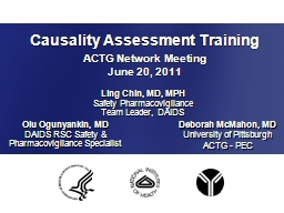 Causality Assessment Training