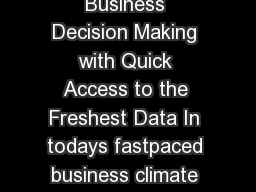 Data Sheet Informatica Data Replication Empower Business Decision Making with Quick Access to the Freshest Data In todays fastpaced business climate your company needs to respond to events as they ha
