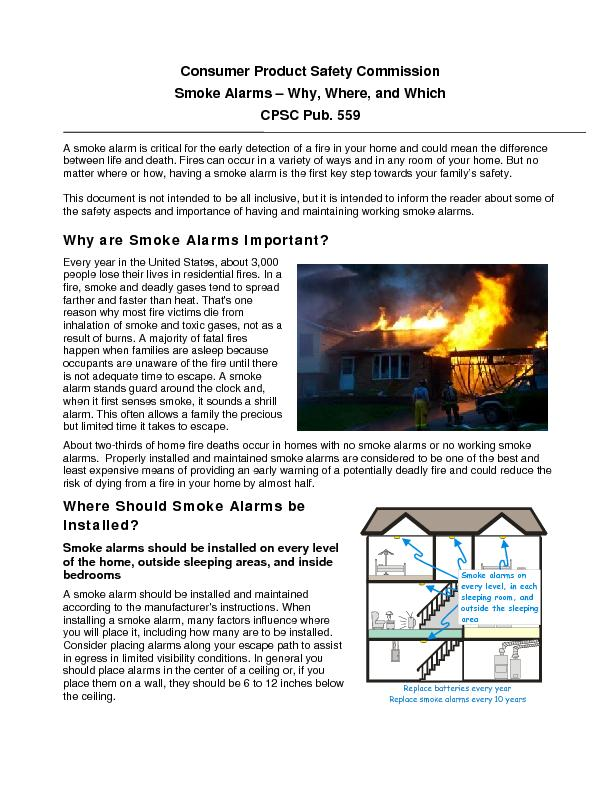 Consumer Product Safety Commission Smoke Alarms  PowerPoint PPT Presentation