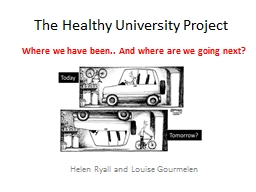 The Healthy University Project PowerPoint PPT Presentation