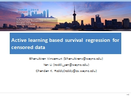Active learning based survival regression for censored data